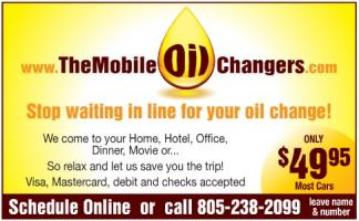 The Mobile Oil Changers logo