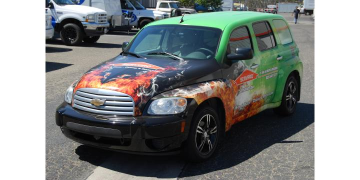 servpro Atascadero- fire damage atascadero- vehicle