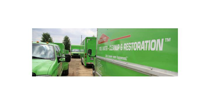 servpro of santa maria - water damage santa maria - trucks